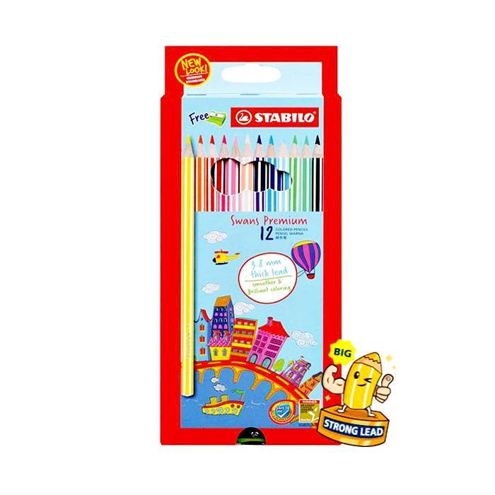 STABILO Flagship Fun 12 Colour Pencils 1867B