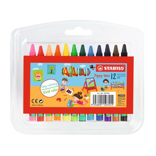 STABILO Wax Crayons 12 Colours 2812PL