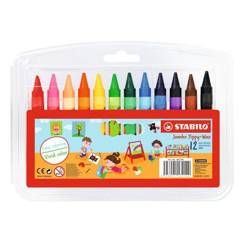 STABILO Jumbo Wax Crayons 12 Colours 2812JPL
