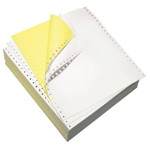 2 Ply Colour Computer Forms 9.5 x 11 Inch White and Yellow