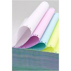 4 Ply Colour Computer Forms 9.5 x 11 Inch White Pink Blue and Yellow