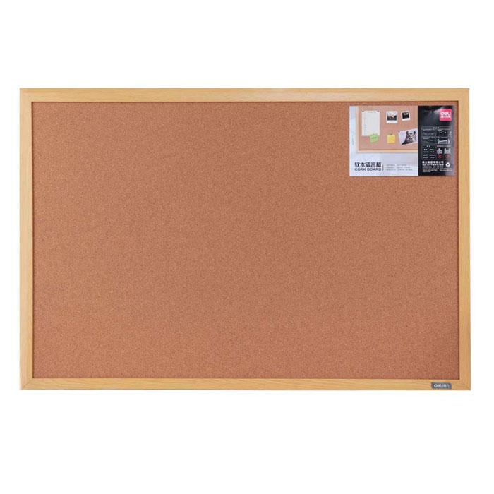 Deli Cork Notice Board with Wooden Frame 60 x 90 x 2cm 8764