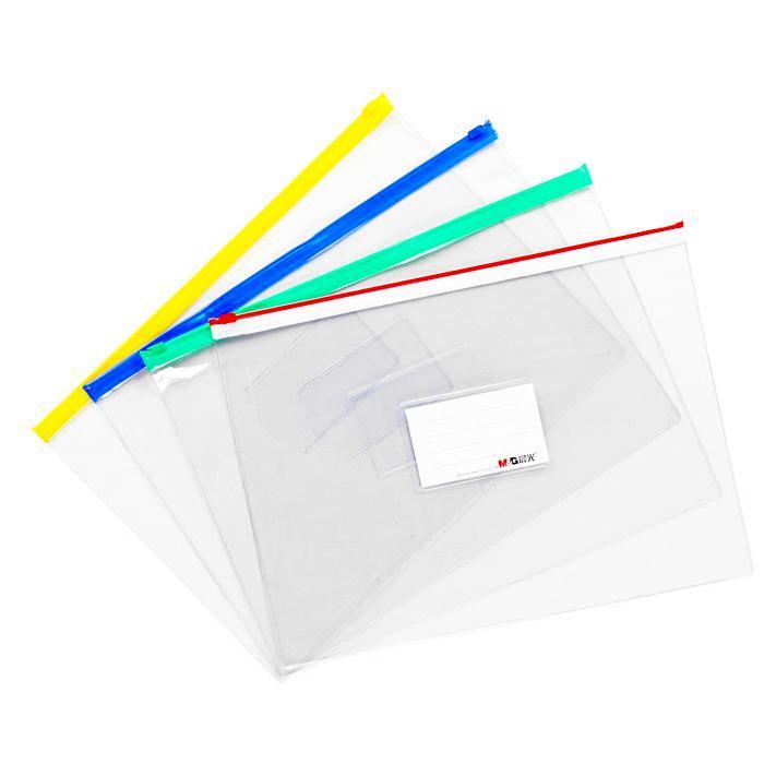 M&G Clear Zipper Bag A4 ADM94552