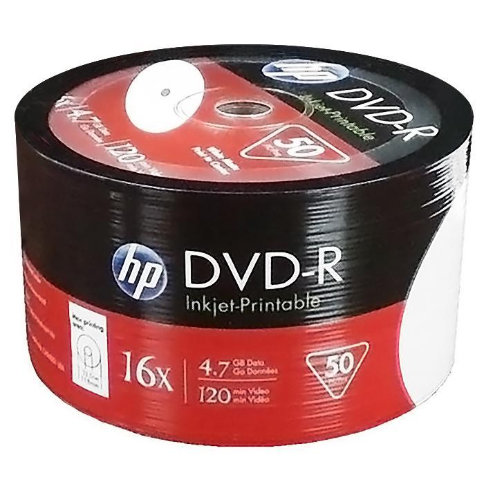 HP DVD-R 4.74GB Printable 50 pcs per Spindle DMA-00083-WIP