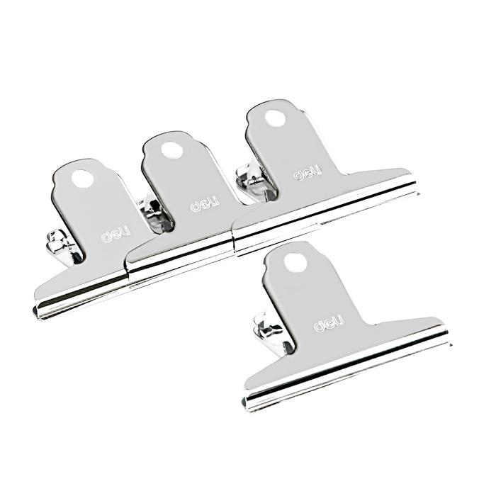 Deli Metal Binder Clip 76mm Pack of 4 9533