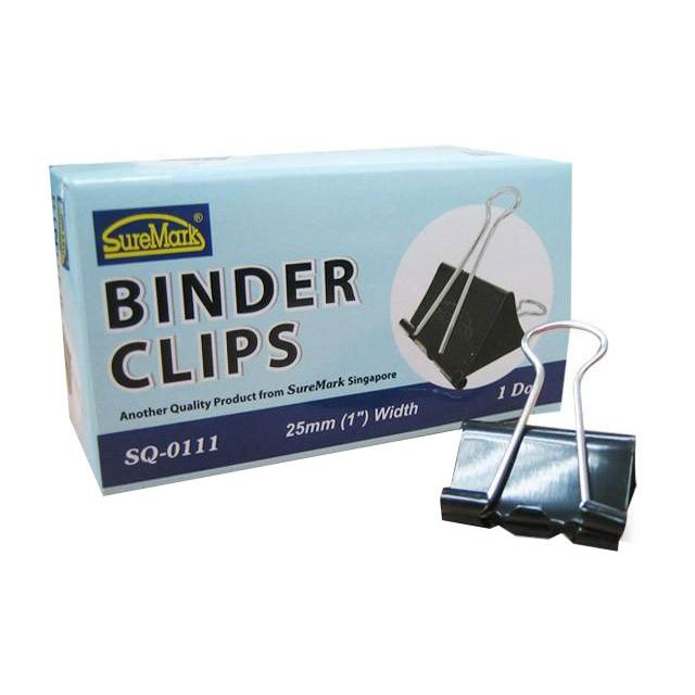 Binder Clips 25mm Box of 12 SQ-0111