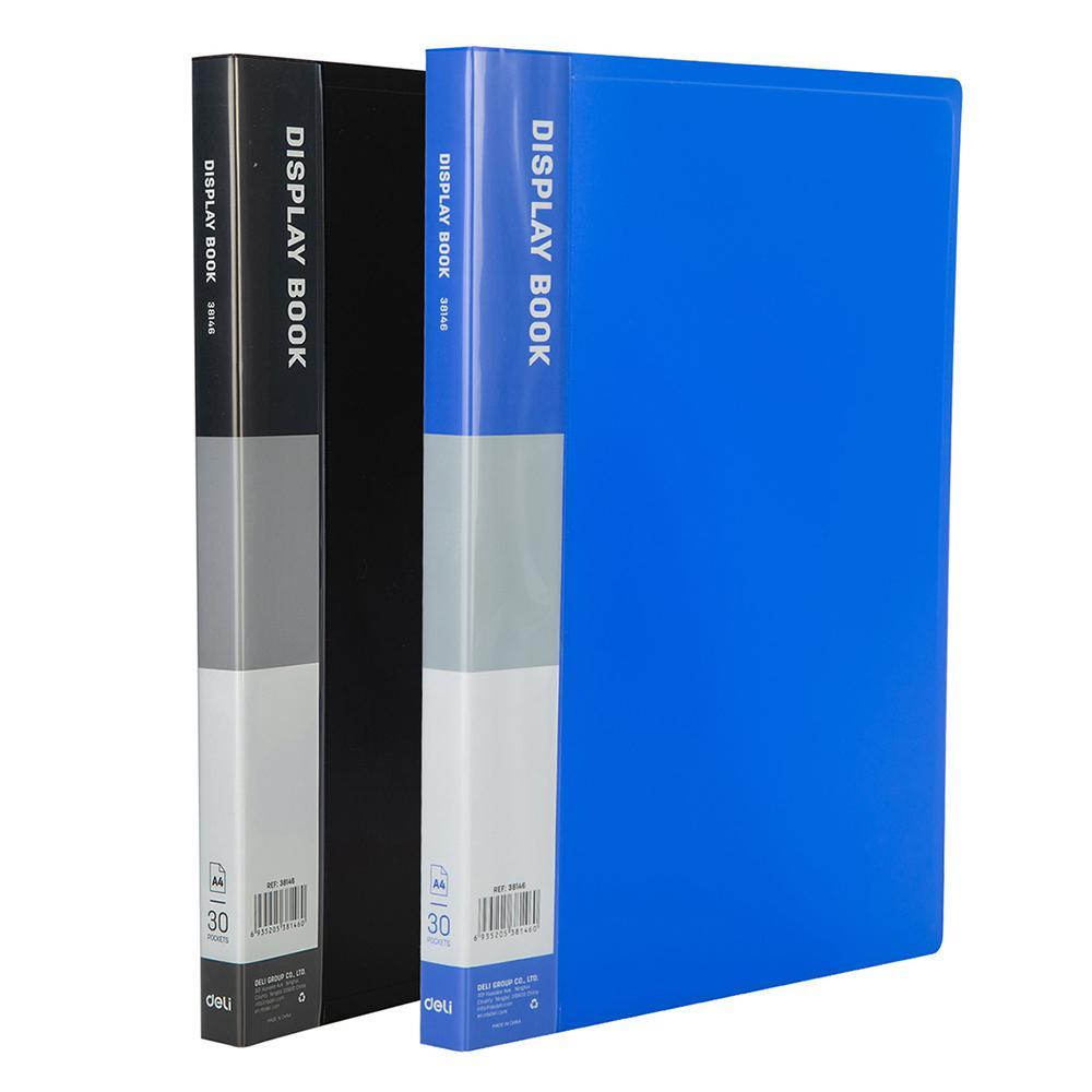 Deli Display Book Clear Holder A4 30 Pockets E38146