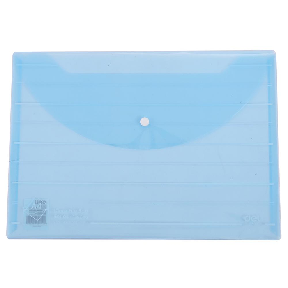 Deli File Folder Bag with Snap A4 Pack of 10 E5502