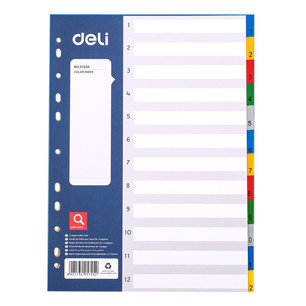 Deli PP Index Divider E5725A (1 to 12)