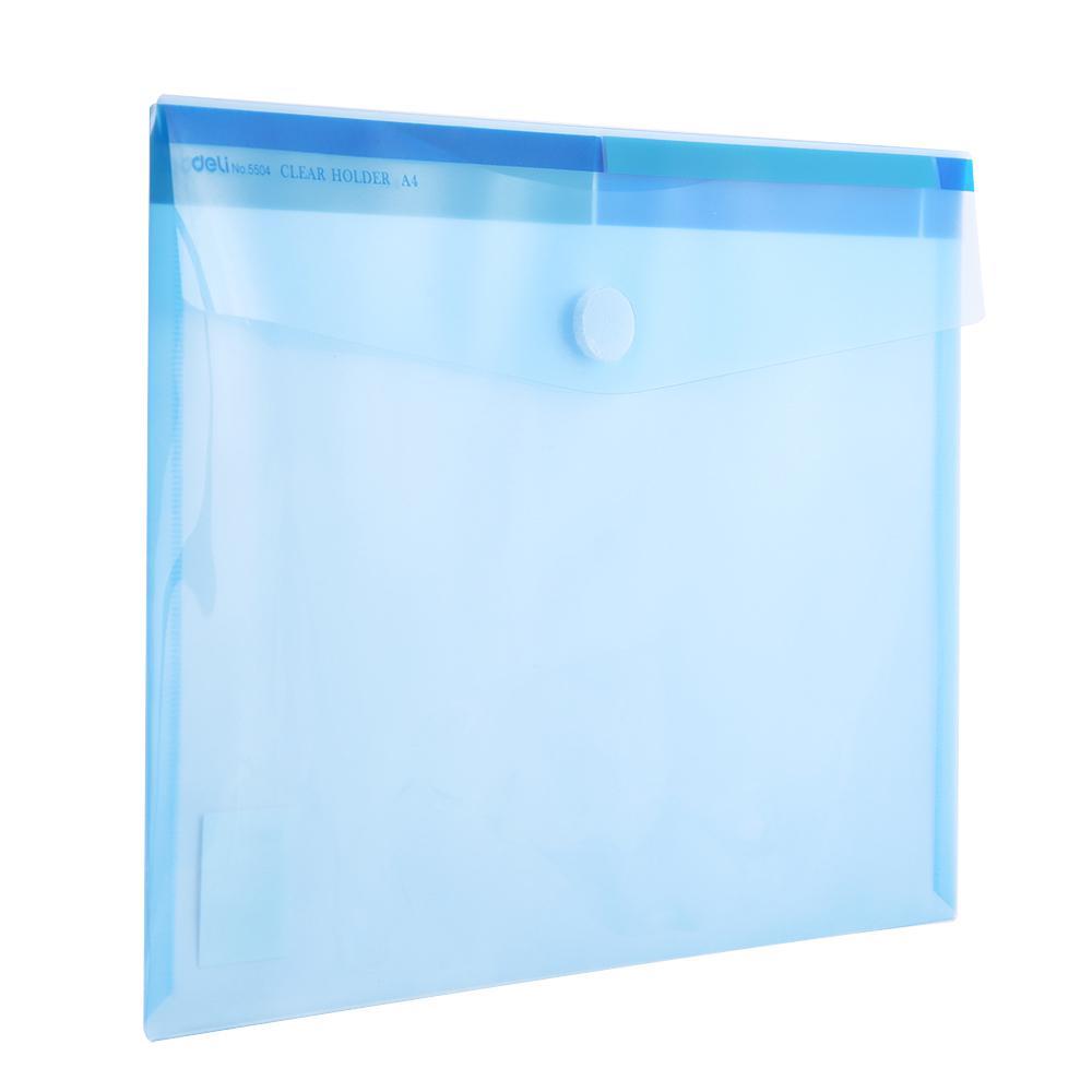 Deli File Folder Bag Velcro A4 Pack of 12 E5504