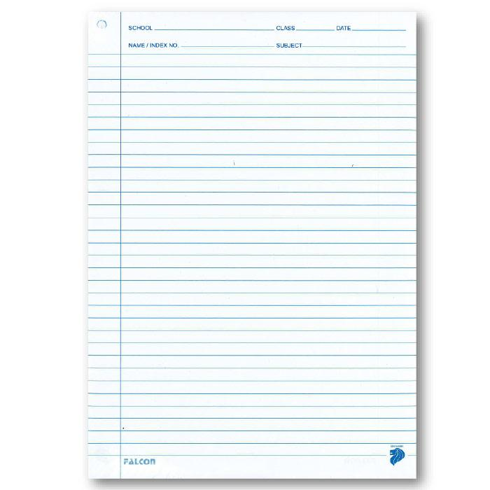 Rule Line Paper A4 Size 500 Sheets Per Pack