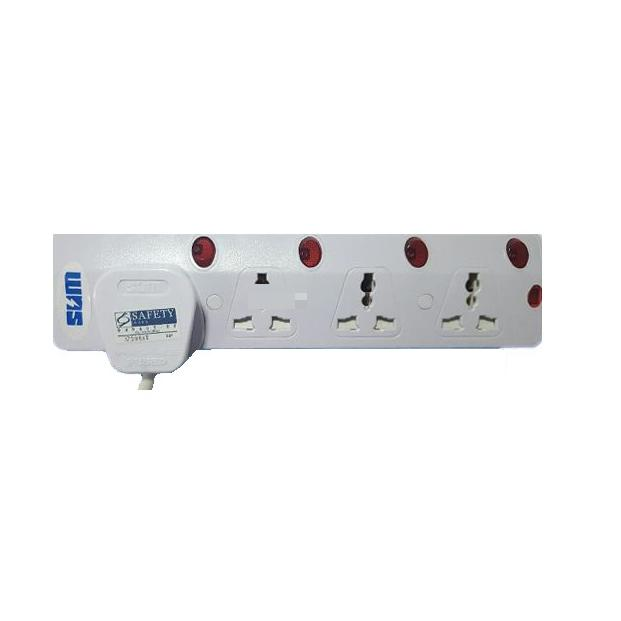 4 Way Multi Extension Socket 3M 6714N