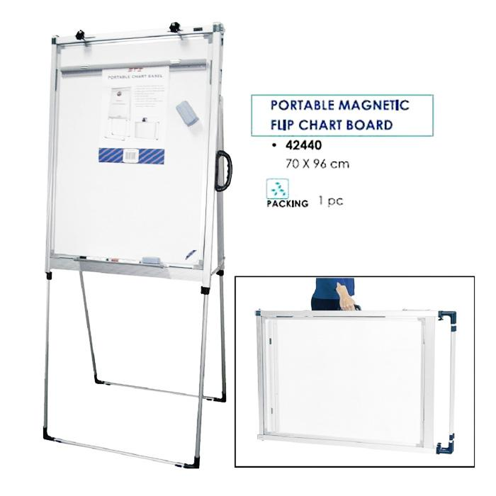 STZ Portable Magnetic Flipchart and Whiteboard 42440/42415