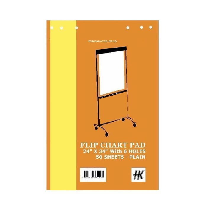 HK Flipchart Pad with 6 Holes A1