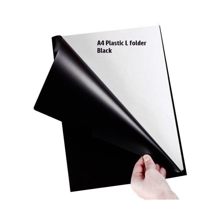 Black L Shape Folder A4
