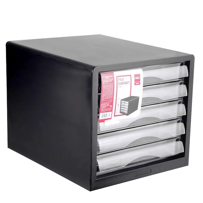 Deli Plastic File Cabinet 5 Drawers E9775