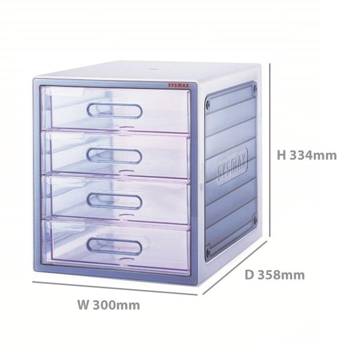 Sysmax Lux Multi Cabinet 4 Drawers 10004