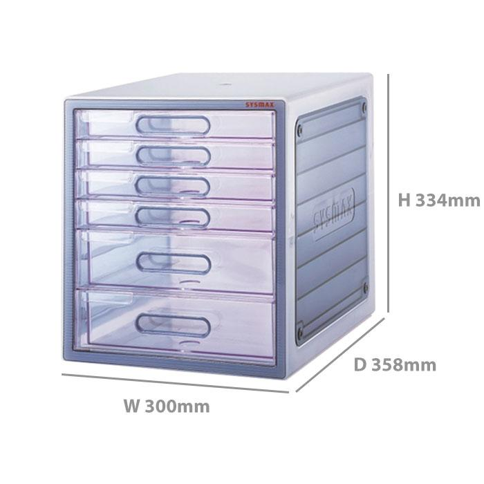 Sysmax Lux Multi Cabinet 6 Drawers 10006