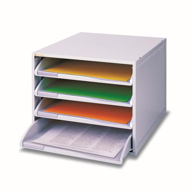Sysmax 4 Tier Open File Cabinet 13104