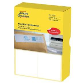 Avery White Franking Label 138 x 48mm 3442