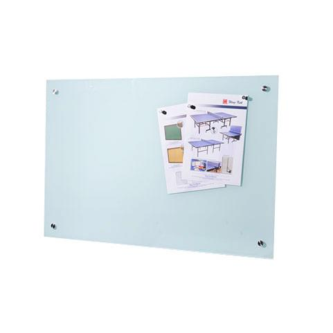 Tempered Magnetic Glassboard with Spacers 100 x 200 x 0.6cm