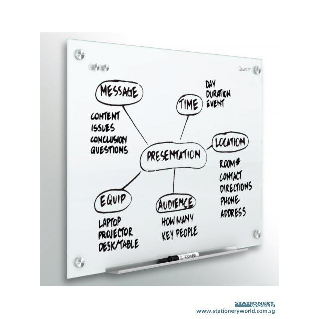 Quartet Infinity Magnetic Glass Board 72 x 48 Inch G7248W