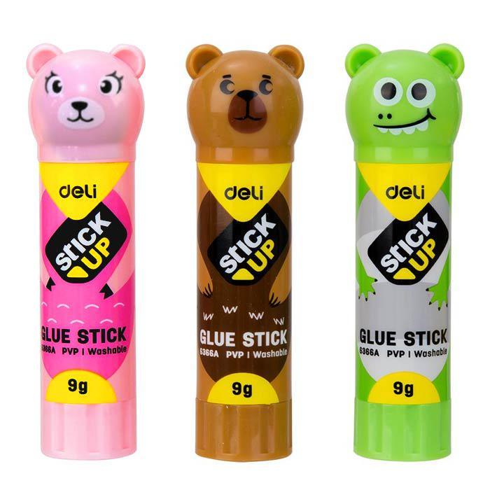 Deli Animal Shape Glue Sticks 9g Pack of 3 E6366A