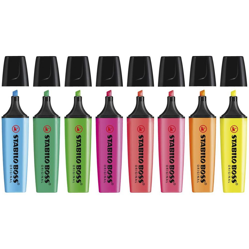 STABILO Boss Highlighters Pack of 8