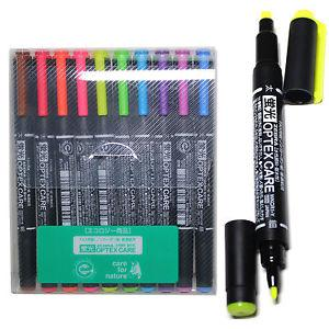 Zebra Optex Care Dual Point Highlighters Pack of 10