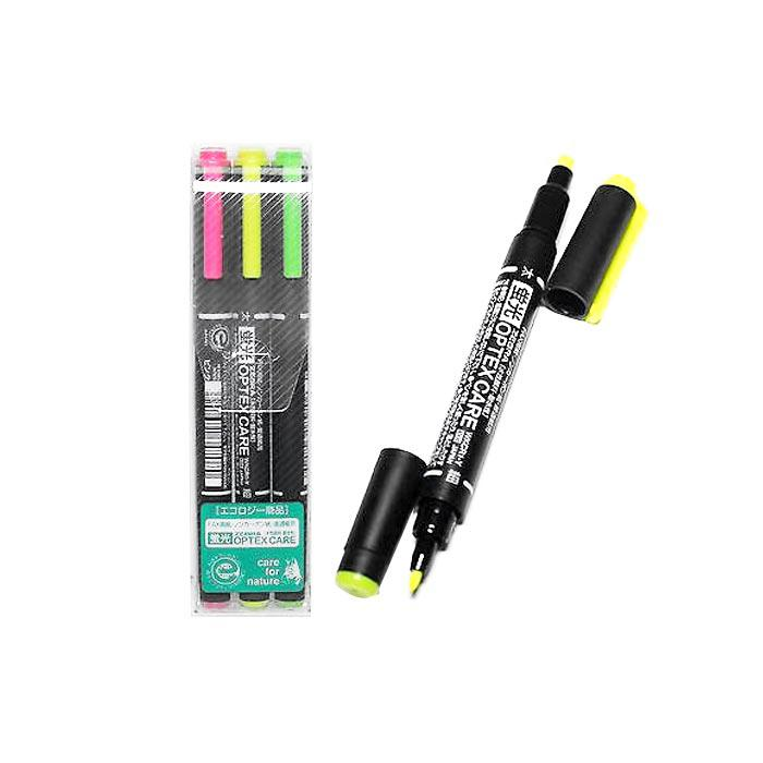 Zebra Optex Care Dual Point Highlighters Pack of 3