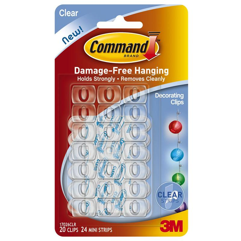 3M Command Decorating Clips 17026CLR