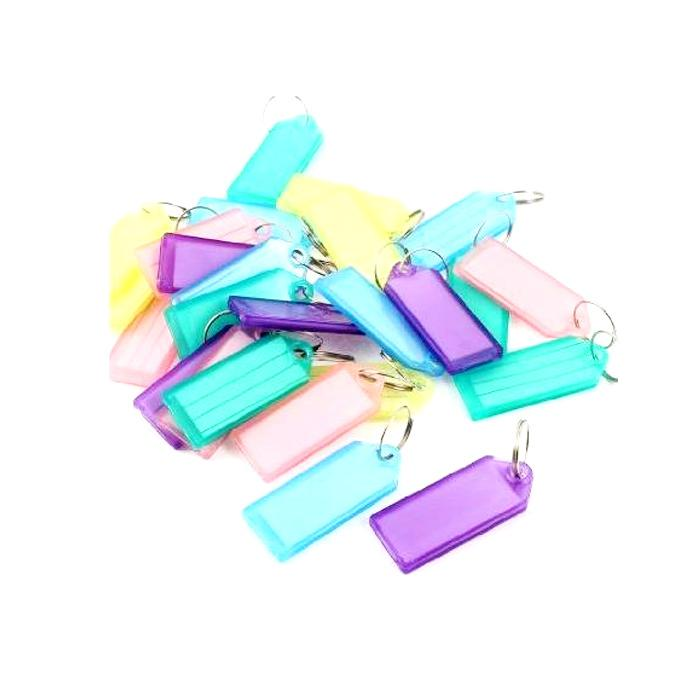 Plastic Key Tags Pack of 25