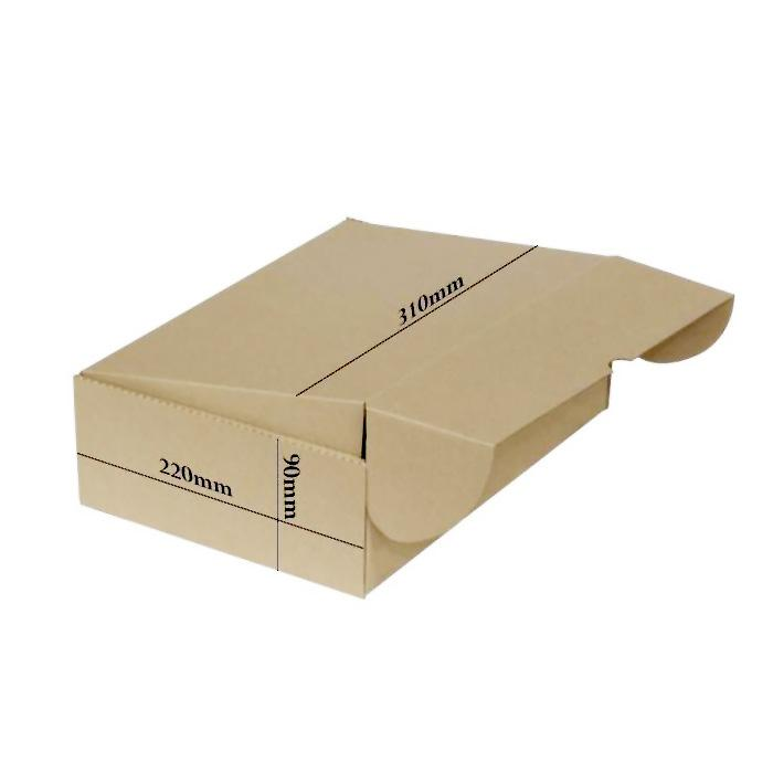Recycled Cardboard Kraft Box 310 x 220 x 90mm Bundle of 10 B-01