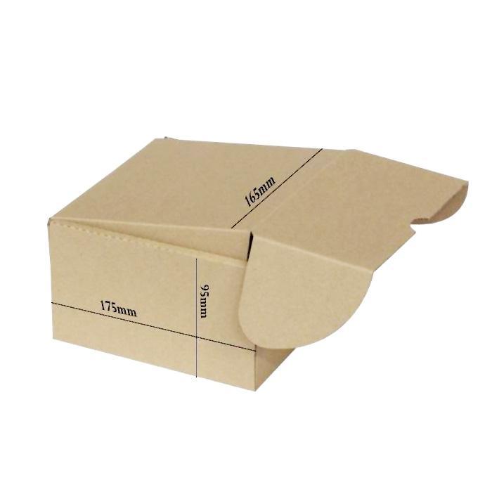 Recycled Cardboard Kraft Box 175 x 165 x 90mm Bundle of 10 B-03