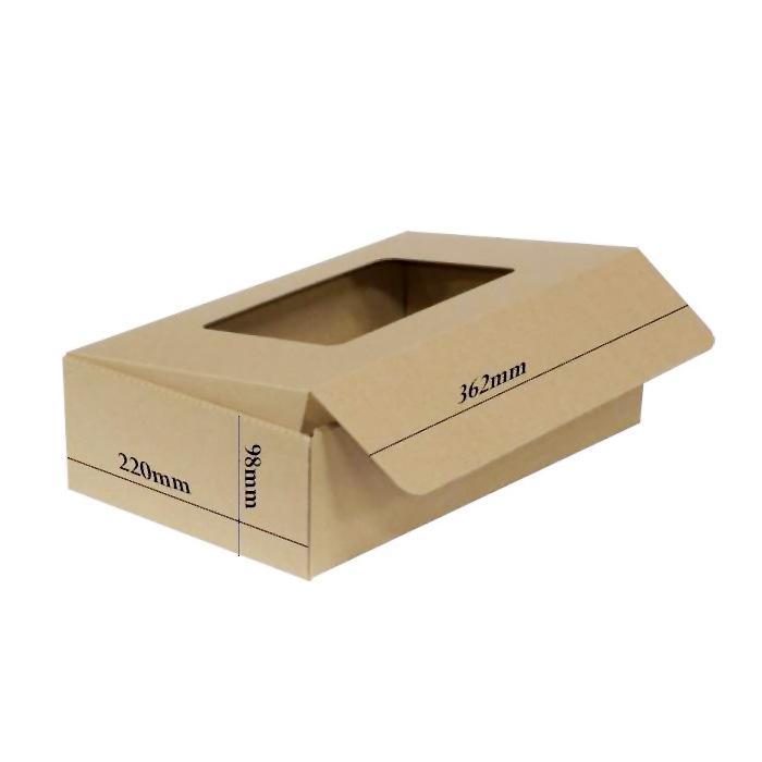 Recycled Cardboard Kraft Box 220 x 98 x 362mm Bundle of 10 G-03