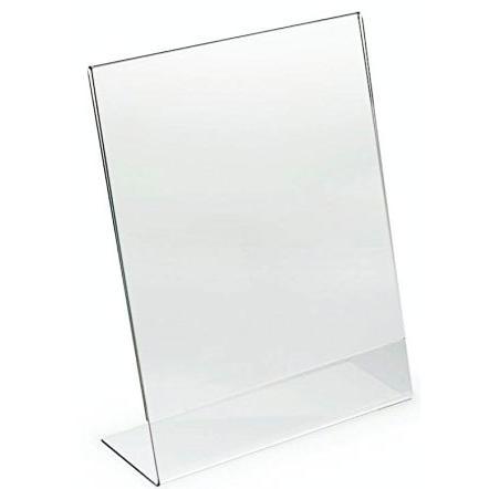 L Shape Acrylic Sign Stand 21 x 29.7cm Portrait TB21X297P
