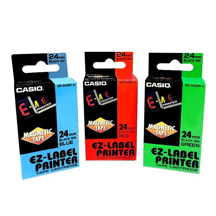 Casio EZ Label Printer Magnetic Tape 24mm XR-24J