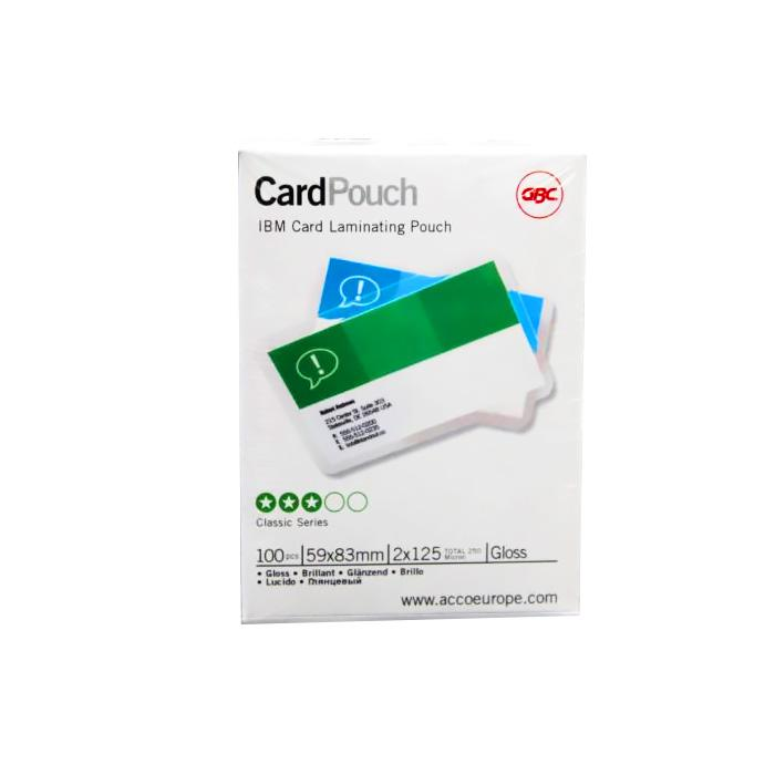 Ibico Laminating Pouch Sheets 59 x 83mm 125 Microns