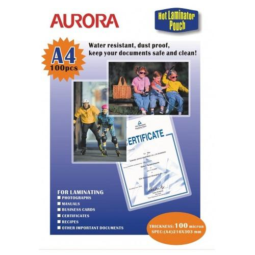 Aurora Laminating Pouch Sheets A4 100 Microns