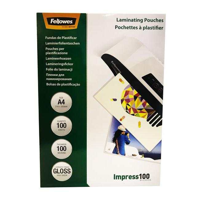 Fellowes Laminating Pouch Sheets A4 100 Microns