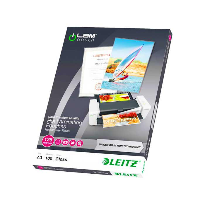 LEITZ iLam Laminating Pouch Sheets A3 125 Microns 7488