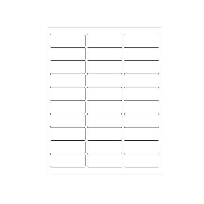 Avery White Labels 1 x 25.12 Inch 5260