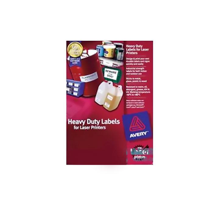Avery Laser Heavy Duty White Labels 209 x 294mm L7067-25