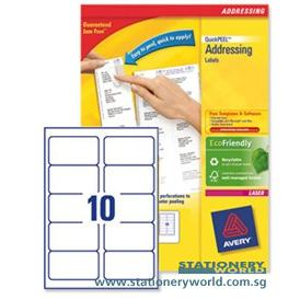 Avery Address White Labels 99.6 x 57mm L7173-100