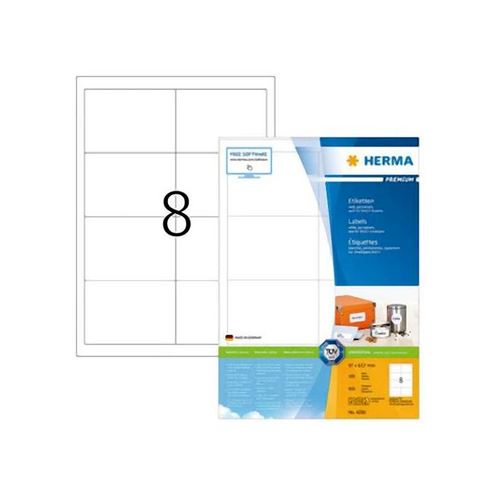 HERMA Premium White Labels 96.5 x 67.7mm 4280