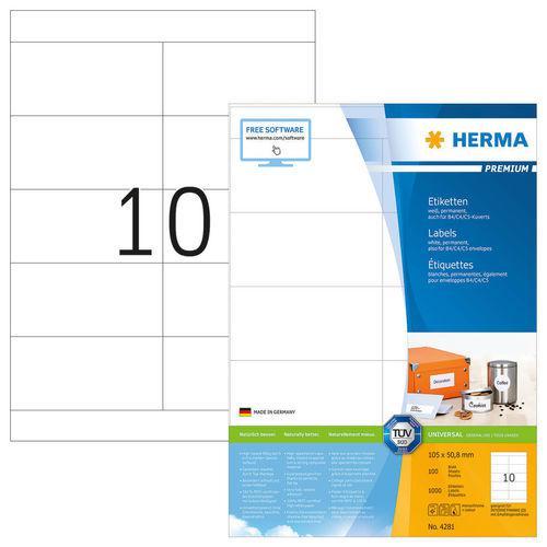 HERMA Premium White Labels 105 x 50.8mm 4281