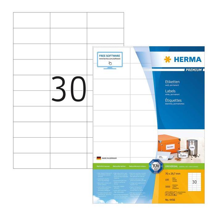 HERMA Premium White Labels 70 x 30mm 4456