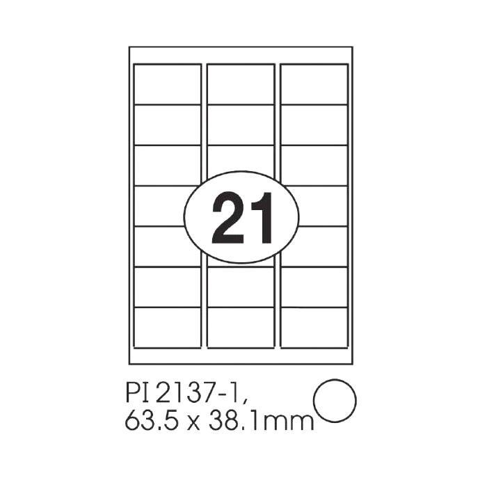 Print-it Laser White Labels 63.5 x 38.1mm PI-2137-1