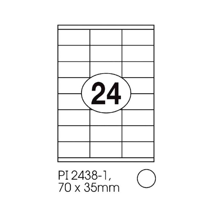 Print-it Laser White Labels 70 x 35mm PI-2438-1