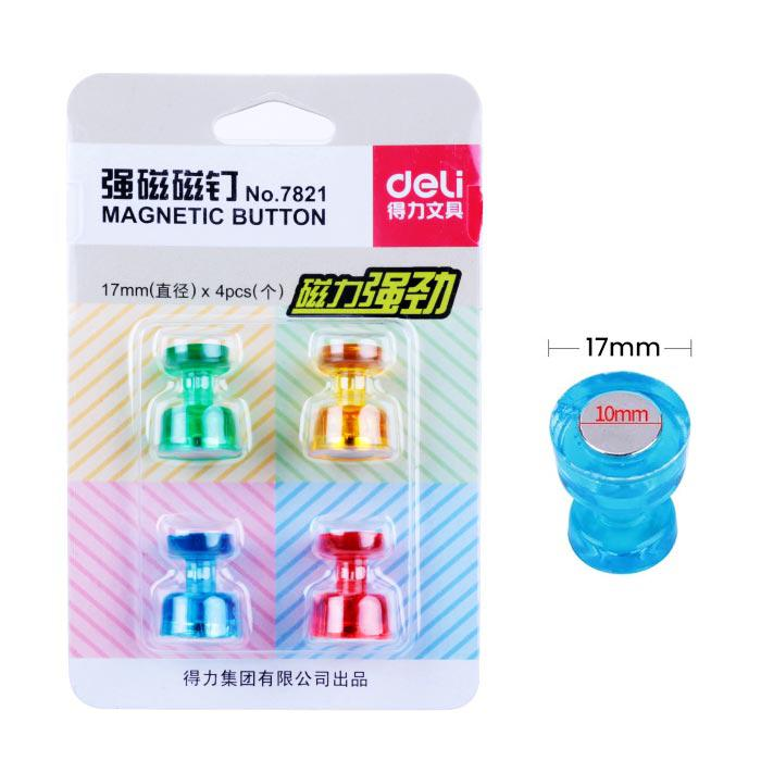 Deli Glass Board Magnetic Button 17mm Pack of 4 Pcs 7821